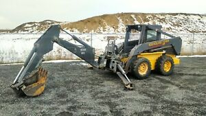 2002 New Holland Ls180 Skid Steer Bobcat With Backhoe Attachment