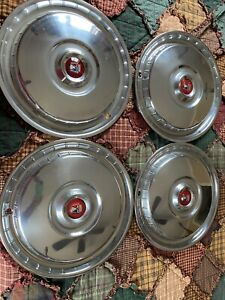 4 Nos 1955 1956 Ford Thunderbird New Wheel Cover Hubcaps B5a 1130 c 15