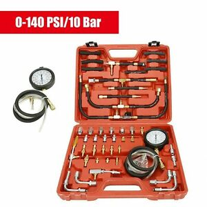 New Manometer Fuel Injection Pressure Tester Gauge Kit System 0 140 Psi