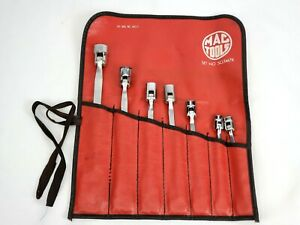 Mac Tools Combination Wrench Flex Box Socket Open End Metric Chlf Set 7 Wrenches