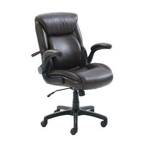 Serta Air Lumbar Bonded Leather Manager Office Chair Adjustable Height Swivel