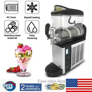 Commercial Single Tank 15l Frozen Drink Slush Making Machine Smoothie Maker Us