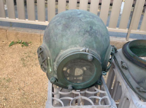 Japanese Antique Divers Diving Helmet Toa Submersible Rare Used