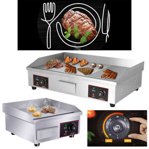 14 29 Commercial Electric Countertop Griddle Flat Top Grill Hot Plate Bbq