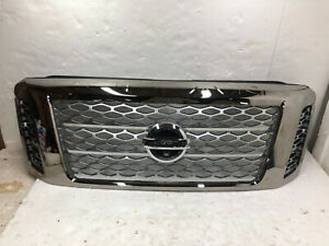 2017 2018 2019 Nissan Titan Platinum Front Upper Grille W camery Style Oem