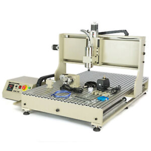 Usb 4 Axis Cnc 6090 Router 3d Engraver Metal Milling Engraving Machine handweel