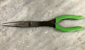 New Snap on Tools Green Cushion Grip 11 Talon Grip Needle Nose Pliers 911acf