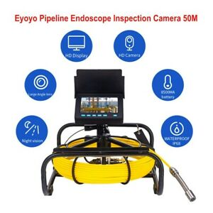 4 3 Inch 50m 164ft Underwater Pipe Inspection Sewer Camera Drain Wall Video 16gb