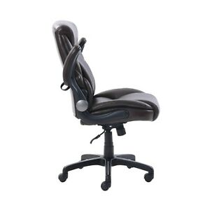 Serta Air Lumbar Bonded Leather Manager Office Chair Black dm