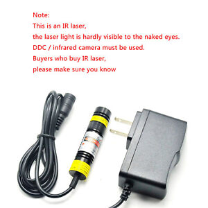 16x68mm High Power Infrared Ir Laser 830nm 250mw Module Laser With Adapter dot
