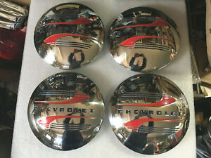 4 New 1941 46 Chevy Truck Stainless Hubcaps For 15 16 Original Wheels