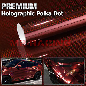 20 x10ft Uncut Roll Window Mirror Chrome Red Tint Film Car Home Office Glass