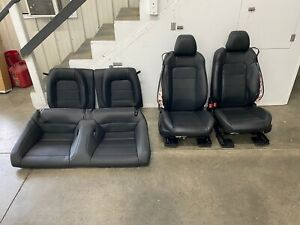 2015 2017 Ford Mustang Gt Black Leather Front Rear Seats Power Oem