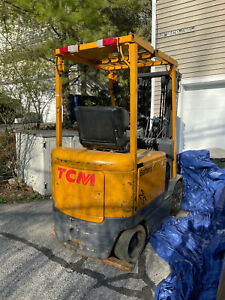 2005 Tcm Electric Forklift 4600lb Capacity Side Shift Triple Mast Great Cond