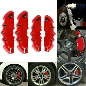 4x Car 3d Style Red Racing Disc Brake Caliper Cover M S Universal Accessories