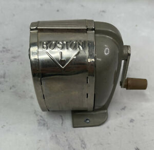 Vintage Boston Model L Pencil Sharpener Wall Desk Mounted Read Discription