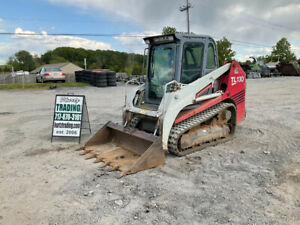 2006 Takeuchi Tl130 Compact Track Skid Steer Loader W Cab Clean