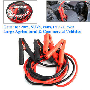 2m 1000amp Heavy Duty Car Lead Battery Jump Booster Cable Start Emergency Jumper