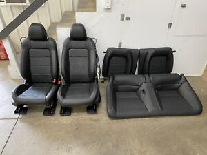 2018 2020 Ford Mustang Gt Black Leather Front Rear Seats Power Oem
