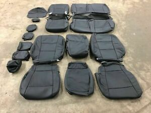 2019 2020 Ford F250 F350 Super Crew Cab Xlt Black Leather Seat Upgrade Cover