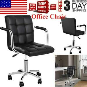Desk Chairs 360 Swivel Modern Pu Leather Adjustable Executive Office Chair