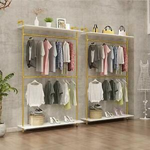 Modern Simple Industrial Pipe Double Hanging Rods Clothing Rack Retail Display