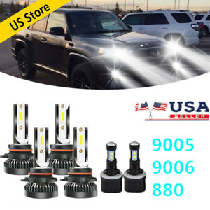 Combo 9005 9006 880 Led Headlight Fog Light Bulbs 6x For Chevy Tahoe 2001 2006