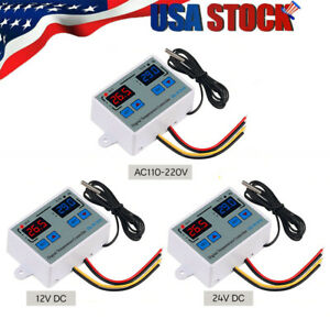 Digital Thermostat c f Temperature Controller Led 10a Direct Output Us R4e7