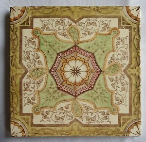 Rare Victorian Tile Mintons Chins Works Date 1890s