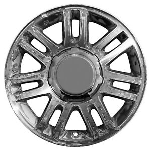 03784 Used 18x7 5 Alloy Wheel Rim Chrome Plated