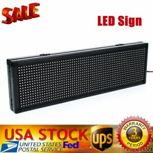 Led Scrolling Sign 20 x 5 Semi Outdoor Signs For Advertising Message Board