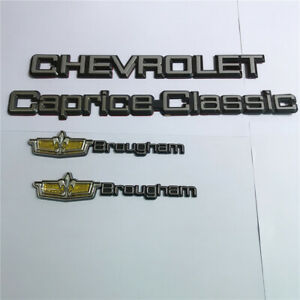 Set Of 4 1980 90 For Chevrolet Caprice Classic Brougham Trunk Emblem Badge Decal