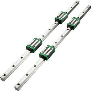 Vevor 2xhsr15 1200mm Linear Rail Slide Guide Rod 4hsr15 Block Aluminium Bearing