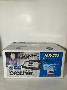 Brother Fax 575 Personal Fax With Phone And Copier Machine Brand New Sealed