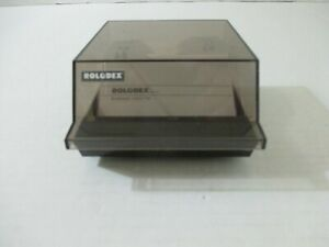 Vintage Rolodex Cbc 100 Business Card Covered File With Clear Sleeves Usa Made