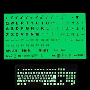 English Us Keyboard Fluorescent Sticker Large Black Letter For Computer Lapto s