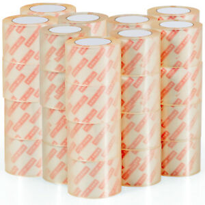 Goplus 36 Rolls 3 x55 Yards 165ft Box Carton Sealing Packing Package Tape Clear