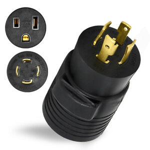 4 prong Generator Adapter 30amp Rv Power Cord Male To 50amp Female Converter Us