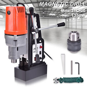 J1c 25 25mm Magnetic Base Drill Press Boring 1350w15000n Magnet Force Tapping