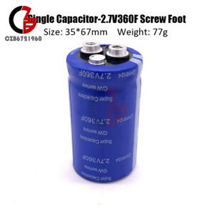 2 7 360f Farad Capacitor Super Capacitor With Screw Foot Frequency 16 6 3400f