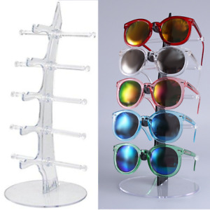5 Layers Acrylic Clear Eyeglasses Sunglasses Glasses Display Stand Rack Holder