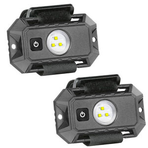 Pair Utv Roll Bar Mount Dome Light Led Lights Withswitch Fits Polaris Rzr Tractor
