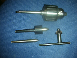 Atlas Craftsman Dunlap 109 Lathe Tooling Package Drill Chuck Live dead Centers