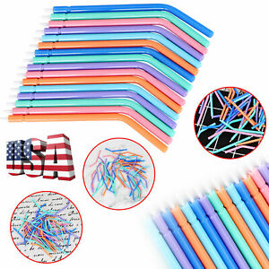 Up to 400 disposable spray nozzle tips colorful for dental triple Spray syringe
