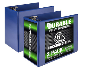 Two 2 Samsill Durable 6 inch Slant D ring 3 ring Locking Binders New