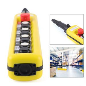 1pcs Xac a8913 Crane Pendant Control Stations Two Speed Estop 8 Buttons With Es