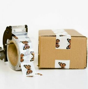 Cute Packaging Tape 2 Inch Monarch Butterfly 110 Yard Roll Designer Packing Tape