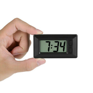 Digital Lcd Home Office Table Car Dashboard Desk Date Time Calendar Small Clock Fits Volvo