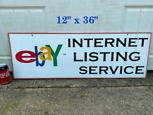12 X 36 Outdoor ebay Listing Service Sign Double Sided