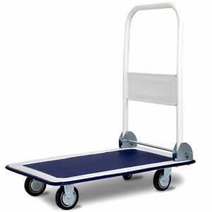 Ironmax 330lbs Platform Cart Dolly Foldable Moving Warehouse Push Hand Truck